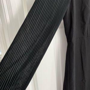 JCrew Pleated-sleeve A-lime dress